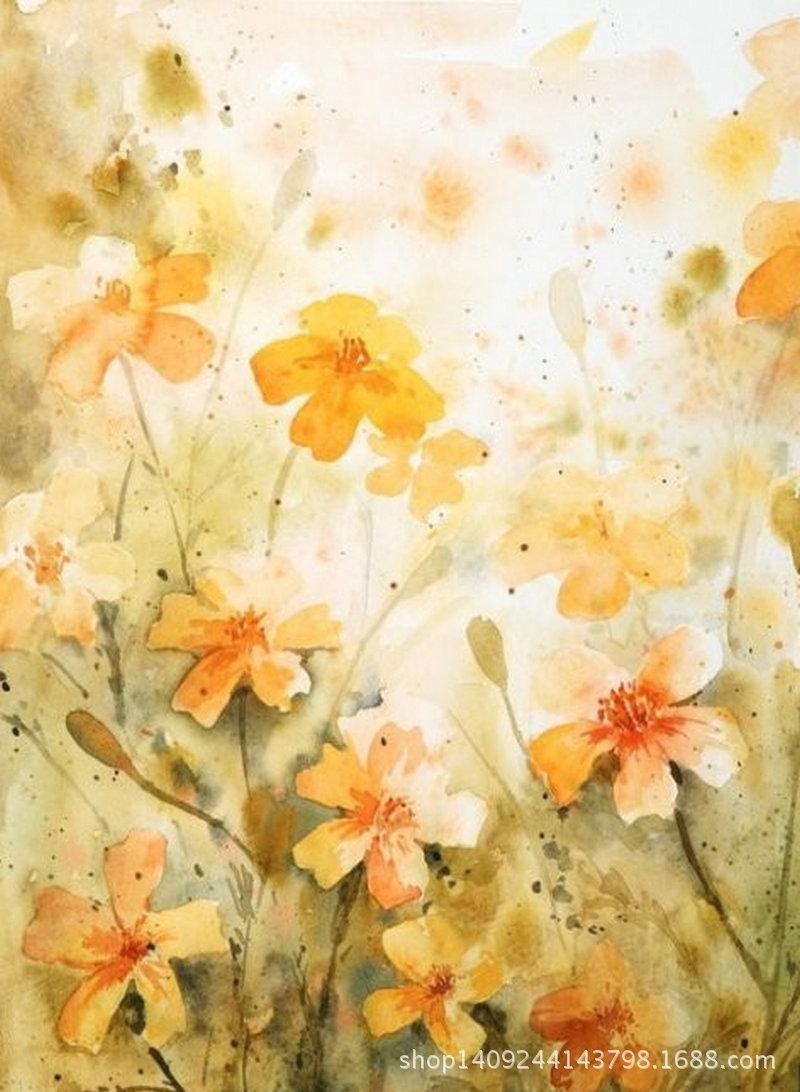 diy手工制作风景植物花卉装饰绘画 客厅