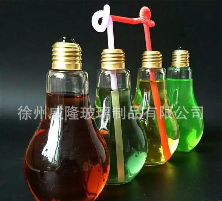 厂家供应新款灯泡饮料瓶奶茶瓶创意果汁杯酸奶杯150-500毫升