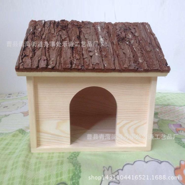 田园户外鸟窝小房子摆件 diy松木小鸟屋-木质工艺品