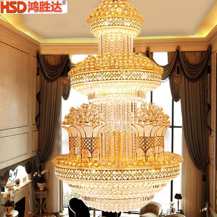 欧式奢华别墅大吊灯大气复式楼客厅水晶吊灯