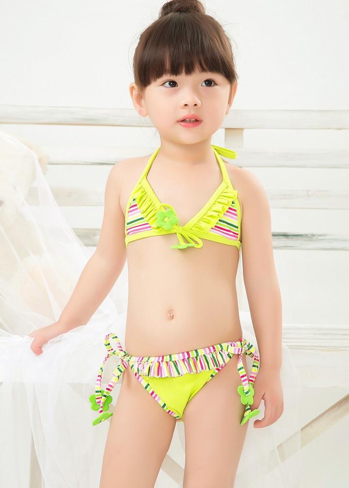品牌儿童泳衣女孩比基尼泳衣婴儿幼儿女可
