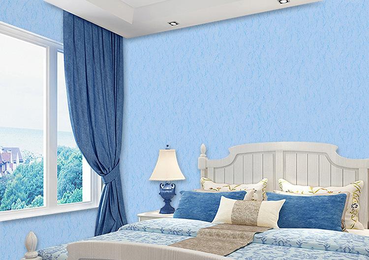 蓝色的欧式墙布