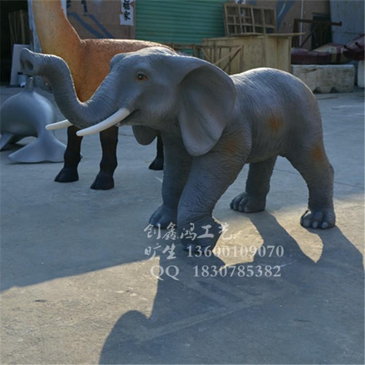 庭院公园玻璃钢动物雕塑 园林工程小品雕塑