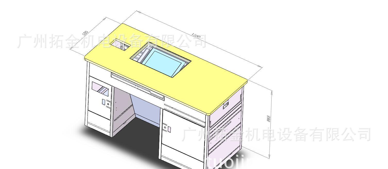 教学多媒体讲桌数字讲桌钢制讲桌讲台木台面讲桌中控电子tk-2155