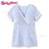 夏季哺乳衣两分袖产妇哺乳短袖棉孕妇居家外