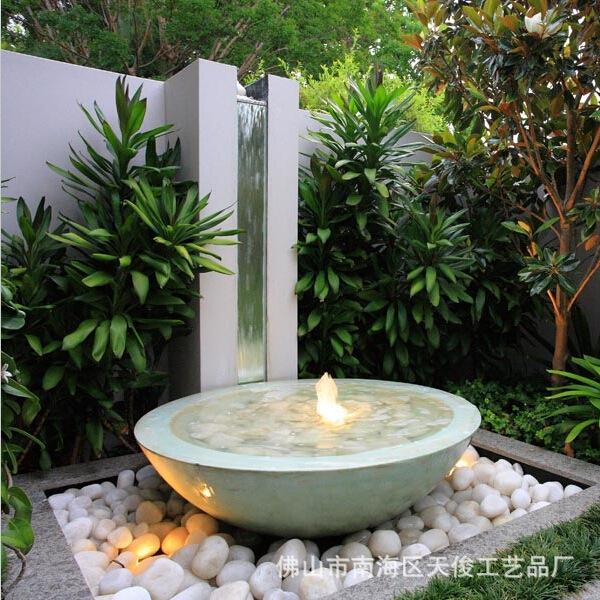 园林水景动态小品景观石喷泉庭院流水喷泉室