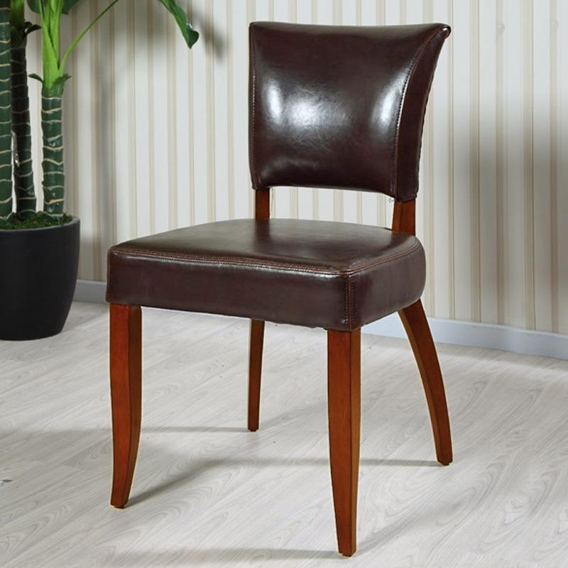 餐椅欧式酒店软面简约真皮椅子 高档餐厅家