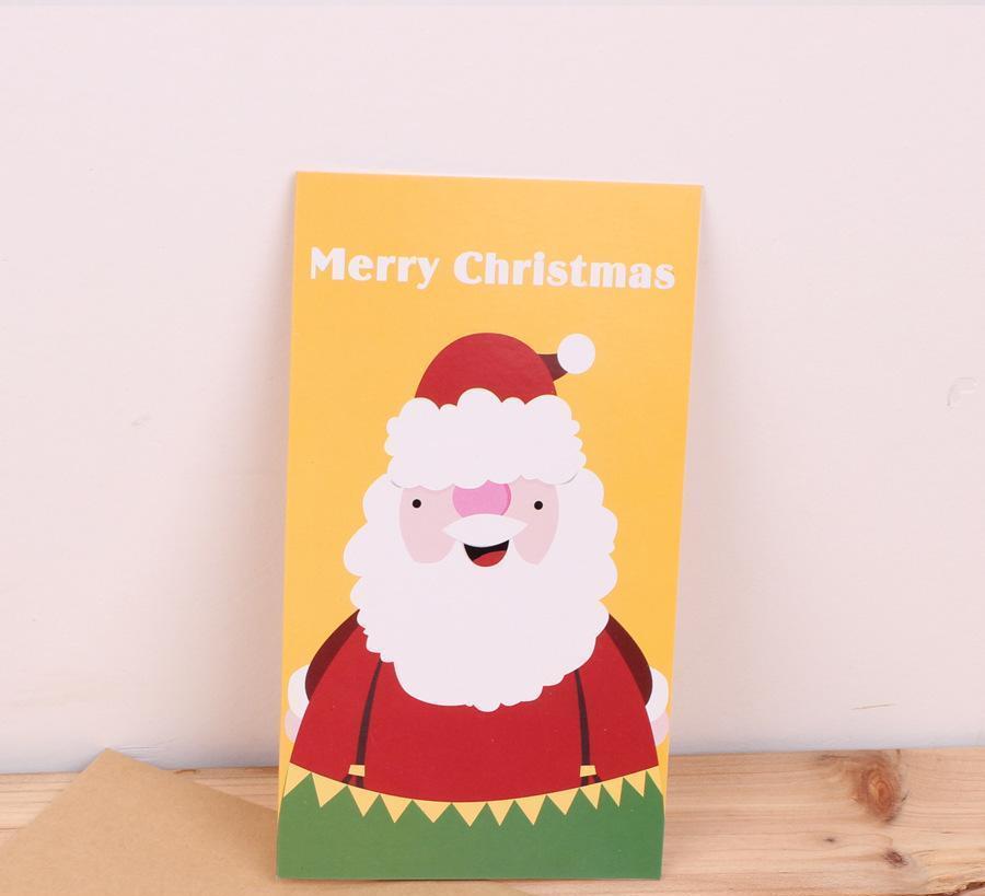 圣诞节贺卡 创意圣诞节贺卡 圣诞节日贺卡特价 4款可选 带信封