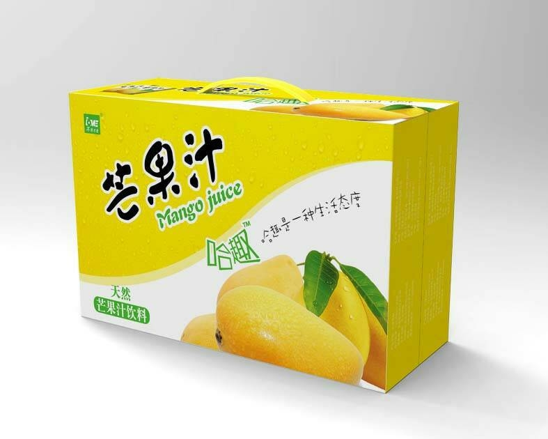 厂家热销饮料包装箱礼品盒彩盒可定制