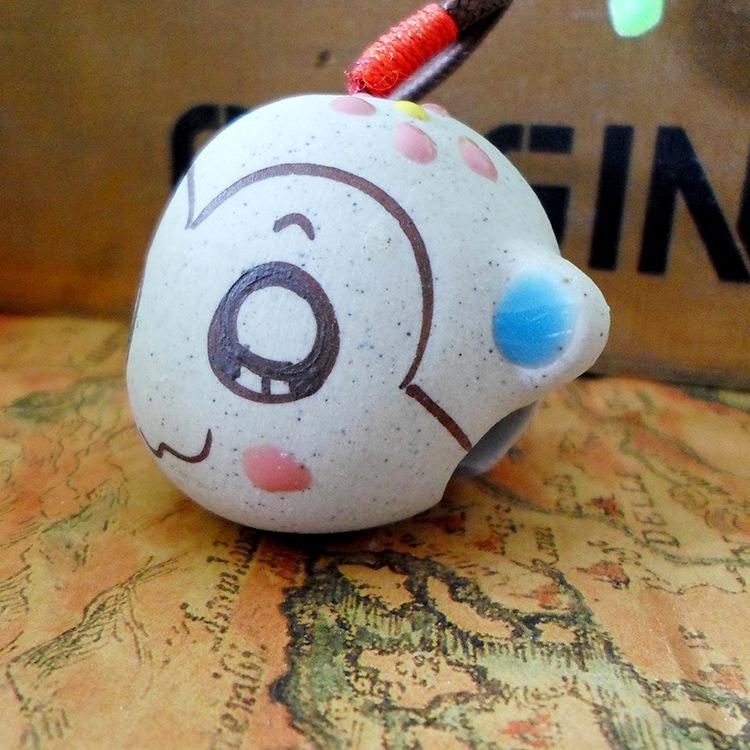 景德镇陶瓷风铃 可爱手绘猴子铃铛包挂 地