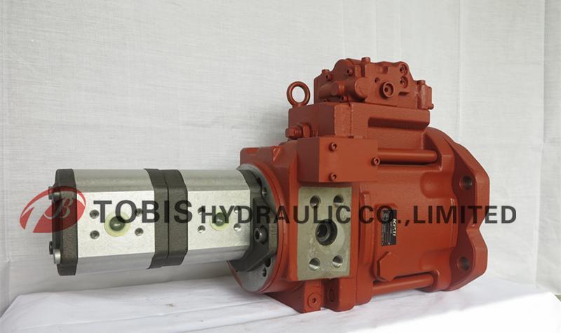 混凝土k3v140s+双联齿轮泵 韩国tobis液压泵 韩国川崎图片