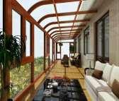 供应泰州贝科利尔151高端铝包木断桥系统阳光房阳台窗