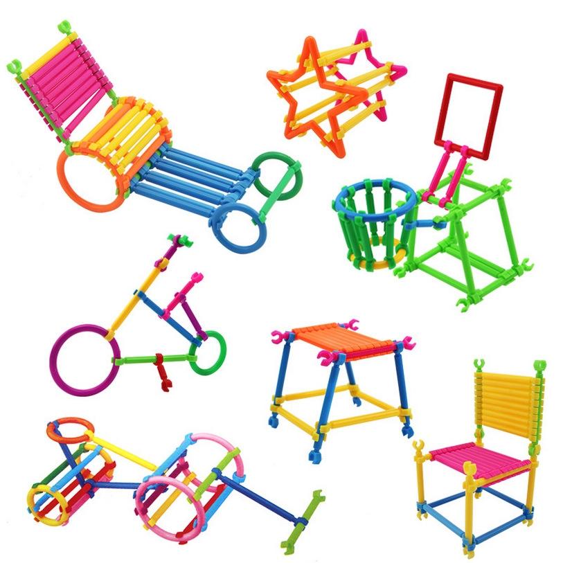 儿童益智玩具聪明棒积木 智慧魔术棒拼装拼
