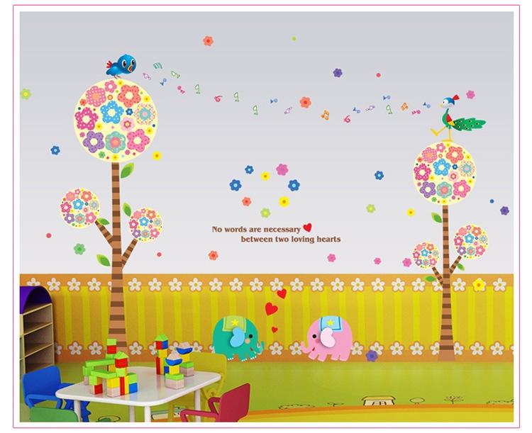 一件代发卡通贴画儿童房幼儿园学校布置大型