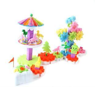 益智电动玩具-趣味游乐园之快乐旋转木马图片