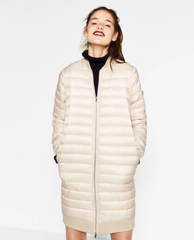 秋冬新款欧洲站轻薄羽绒服 女式中长款外套