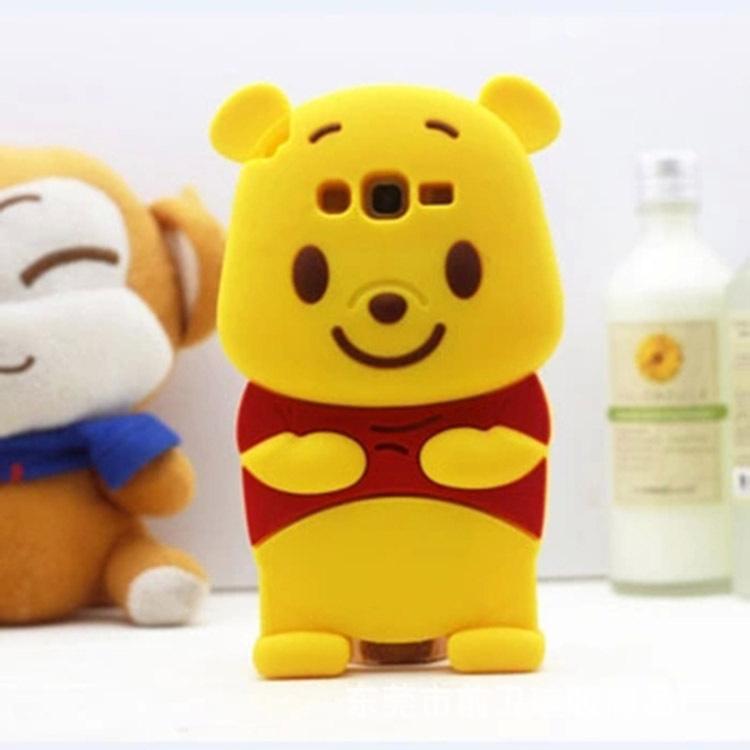 宠硅胶制品加工店 供应信息 手机保护套 厂家直销 新款红米noet2小熊