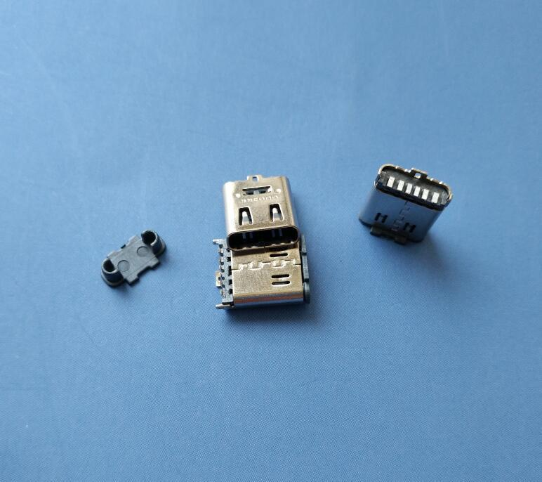 1type-c母座|180度立贴式直脚dip6p充电专用母座 联系电话