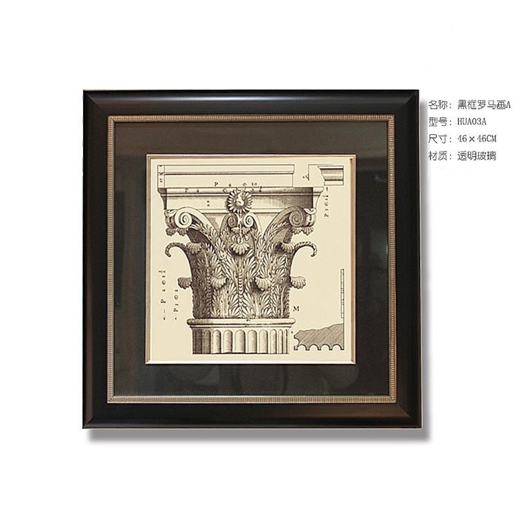 现代欧式背影墙装饰画 别墅墙饰罗马画挂件