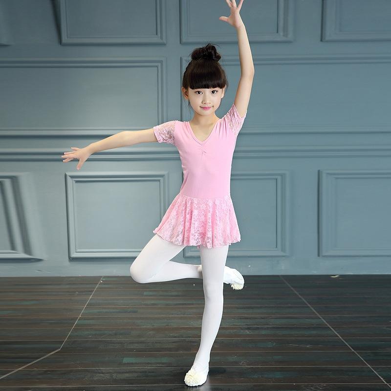 儿童舞蹈服幼儿女童芭蕾舞裙短袖考级服少儿