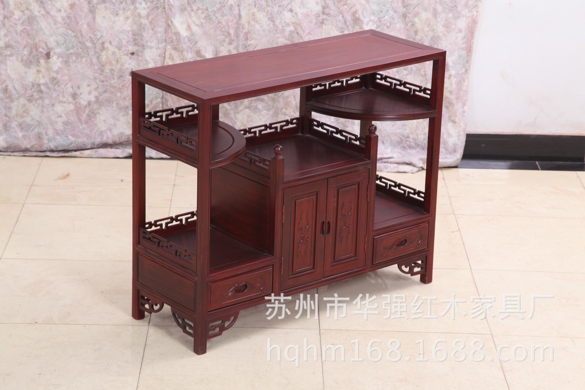 华强红木家具厂红花梨储物柜客厅餐厅红木茶