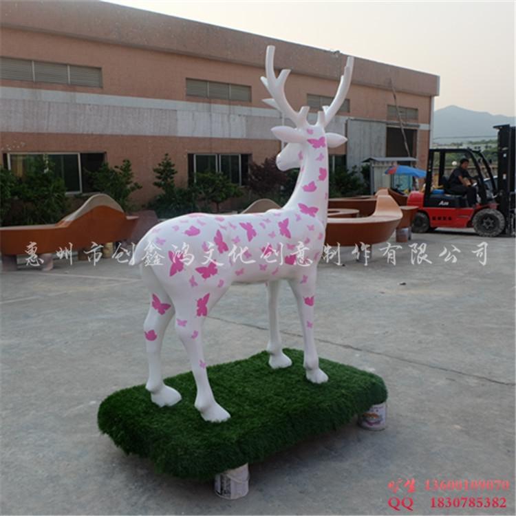 商场圣诞美陈小品雕塑 活动场景布置梅花鹿
