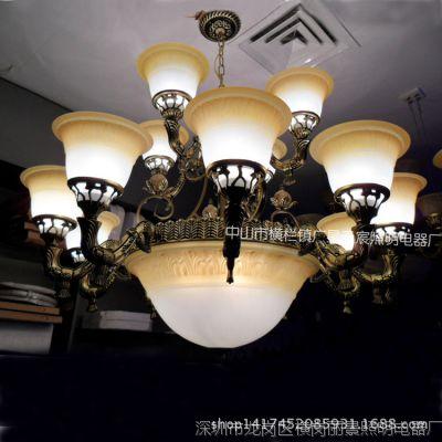 欧式灯 客厅 餐厅卧室 玻璃 led欧式灯 简约 欧式灯两层欧式吊灯