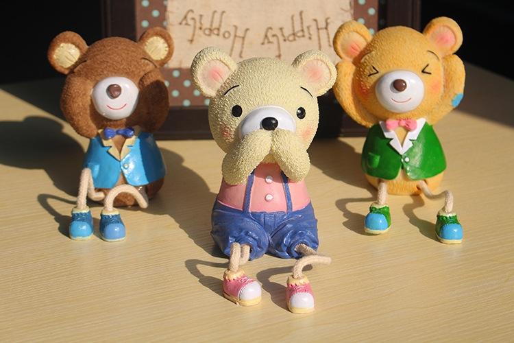 三只小熊存钱罐,卡通动物可爱储蓄罐 学生