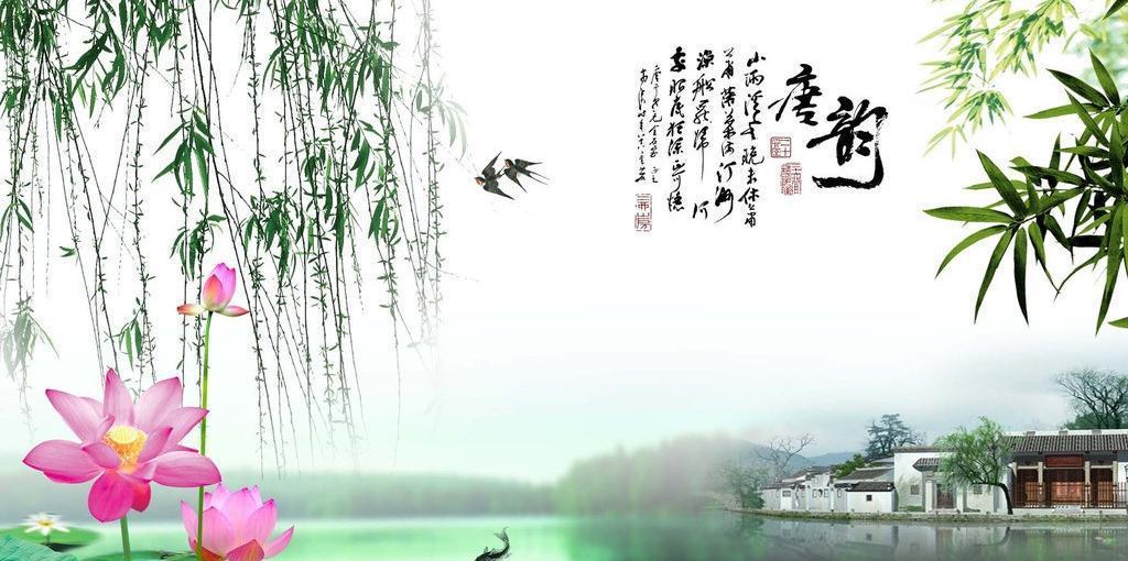 定做草坪高清水族箱背景画 造景纸装饰背景壁纸风景画鱼缸背景图