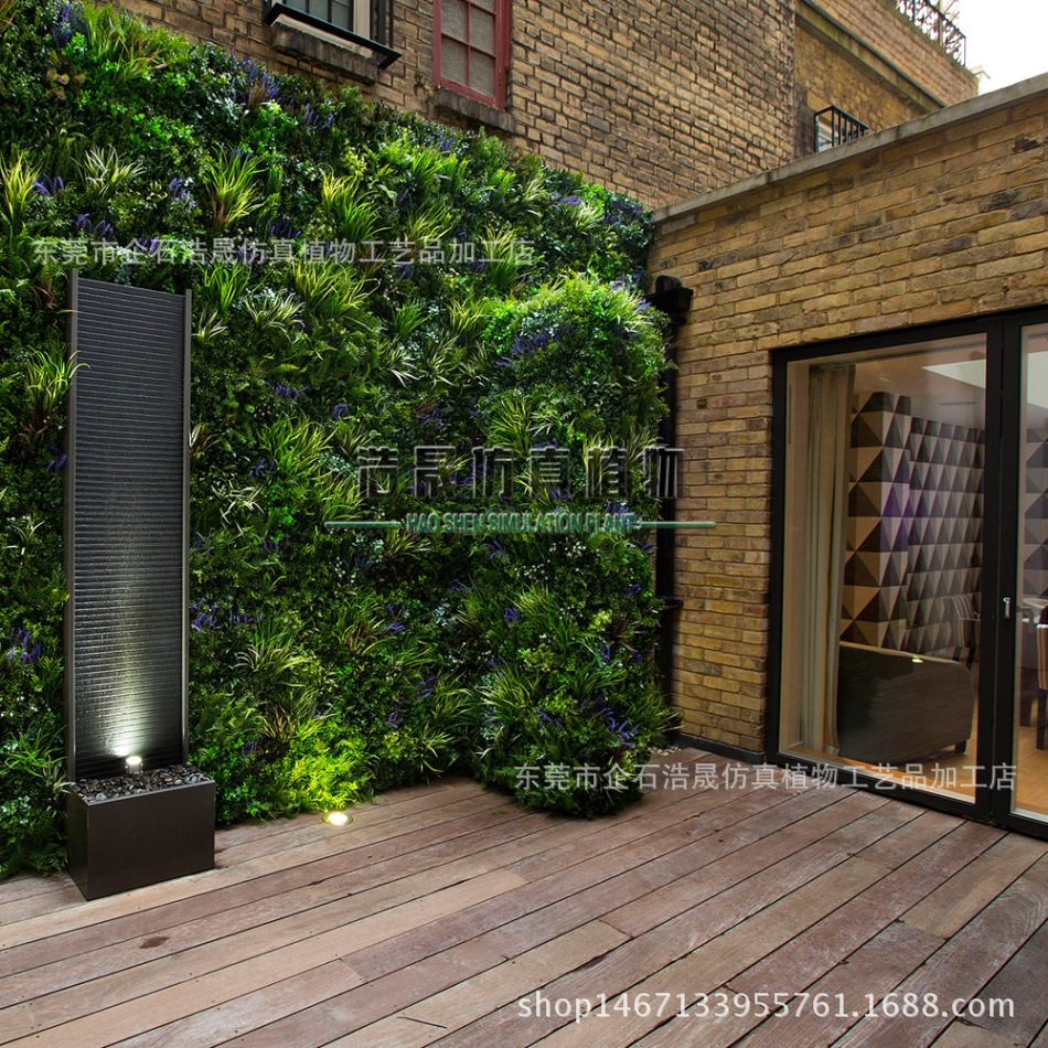 仿真植物墙 仿真绿植墙 室内植物墙 装饰