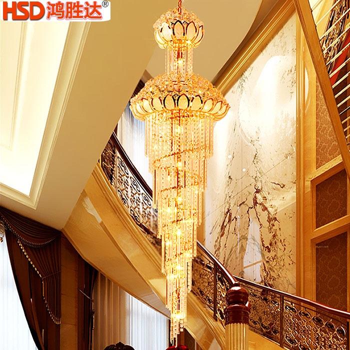 欧式奢华别墅复式楼水晶吊灯大气客厅吊灯楼