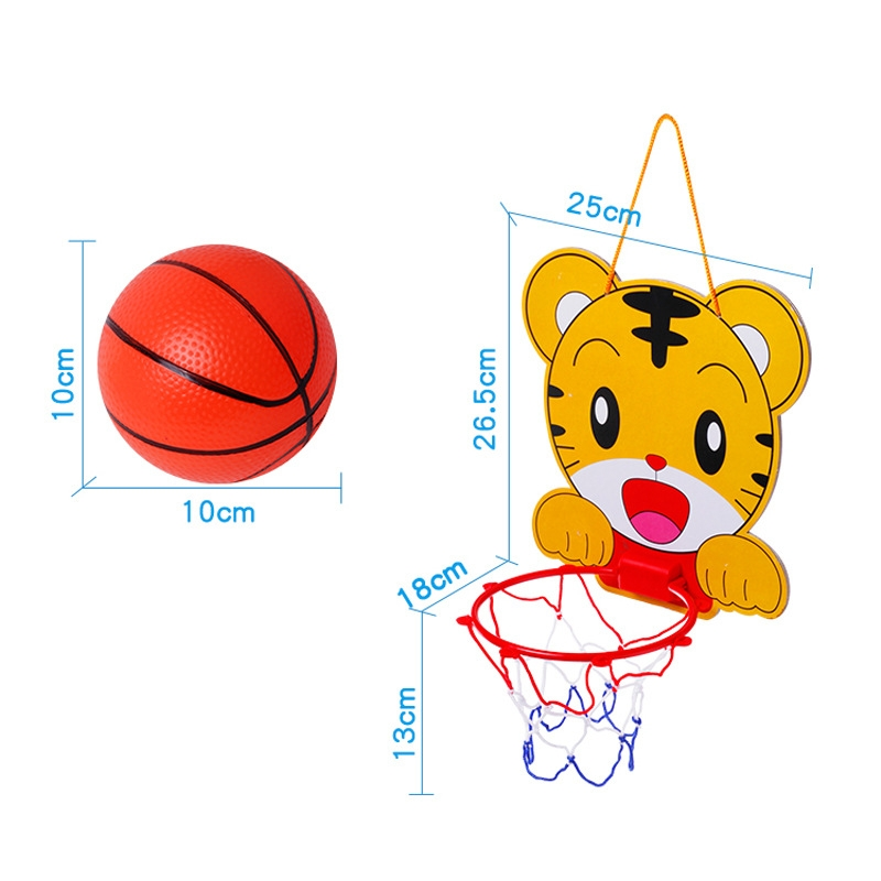 儿童可升降篮球框 宝宝卡通动物篮球架 淘-玩具球