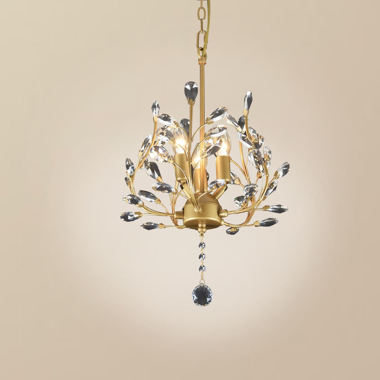 美式水晶吊灯欧式地中海乡村餐厅卧室书房玄