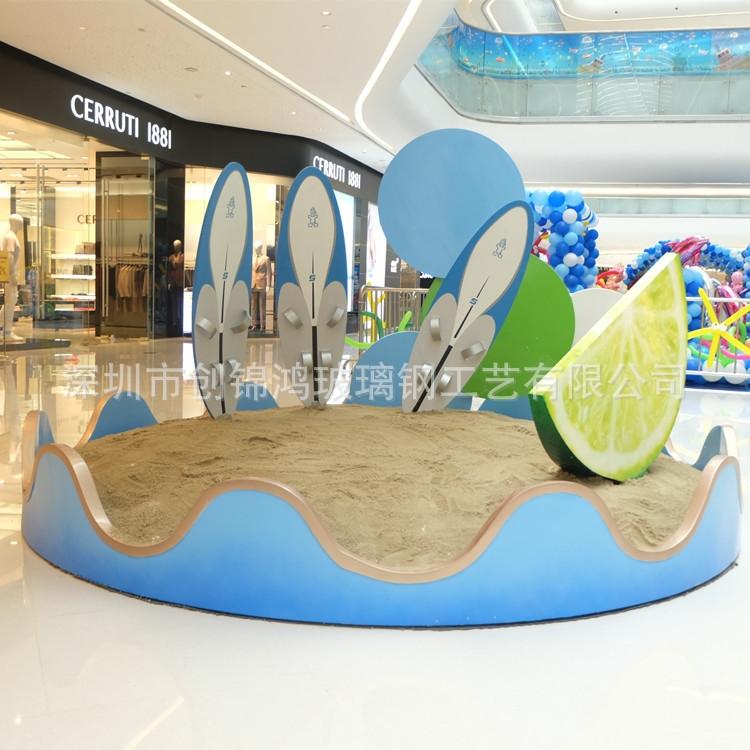 玻璃钢商场景观小品雕塑 柠檬水果雕塑