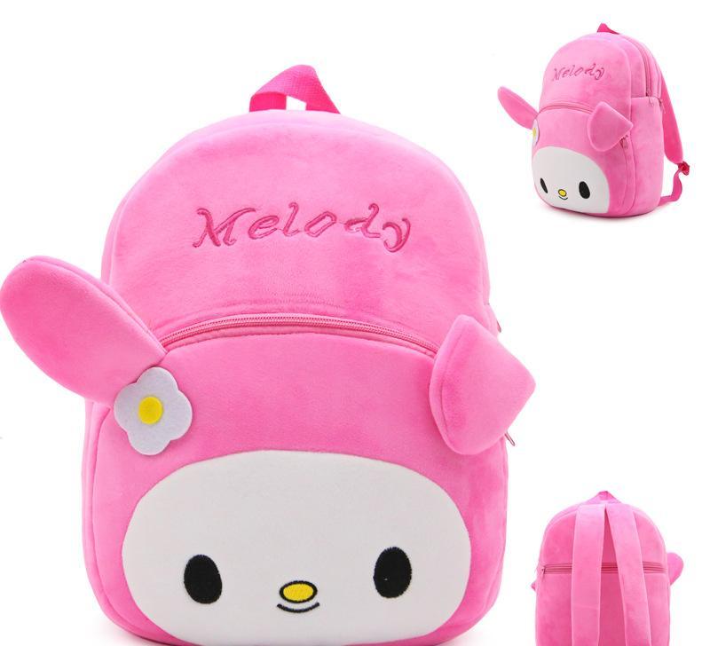 可爱卡通美乐蒂兔兔儿童小书包幼儿园背包减负双肩包毛绒包包