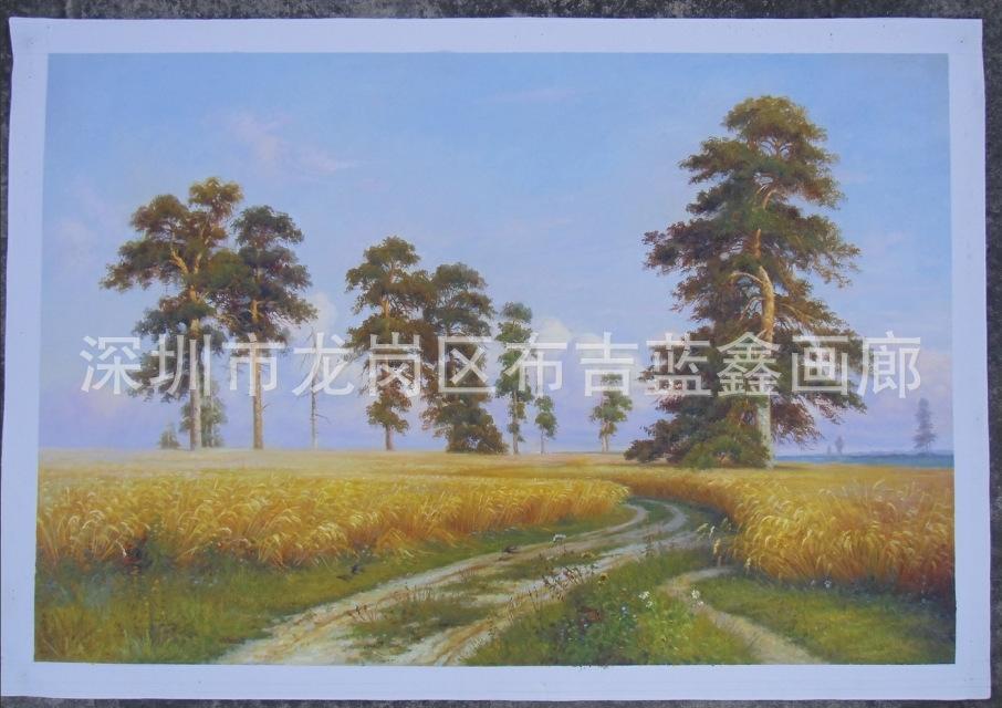 欧式田园古典风景油画现代软装家居装饰画挂