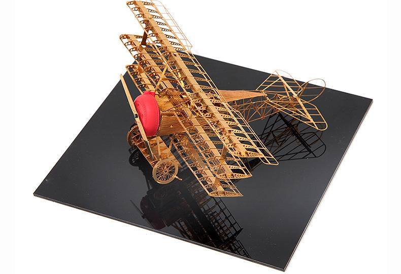 福克三翼飞机金属仿真模型 热销3d立体拼