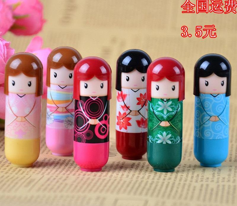恒芳诗晶4211可爱日本和服娃娃润唇膏 水果润唇膏 保湿滋润