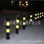 铭品优质钢管警示柱  黄黑  红白防撞柱