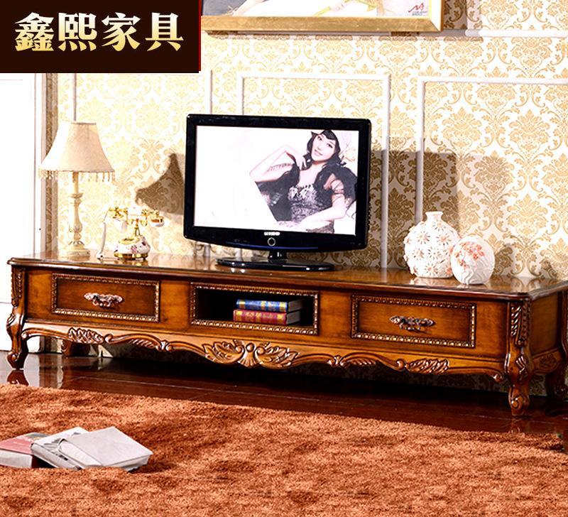 欧式茶几电视柜大理石组合客厅美式实木雕花地柜矮柜储藏柜卧室