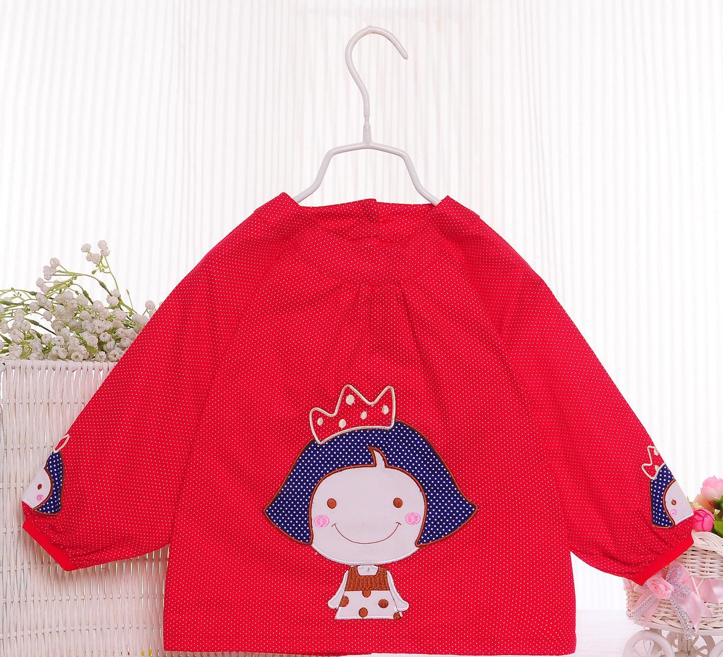 公主王子純棉防水兒童反穿衣阿喜和悅罩衣批發吃飯衣春秋冬畫畫衣