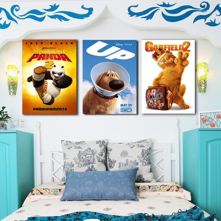 爆款热销 儿童房家居装饰画小清新无框画床