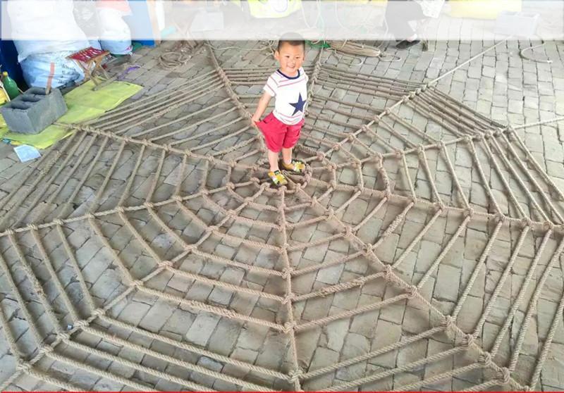 手工编织麻绳蜘蛛网 幼儿园作品网 装饰网防护网酒吧吊顶网