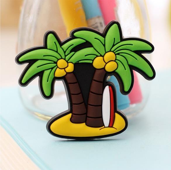 pvc椰子树创意可爱动物冰箱贴磁贴 卡通
