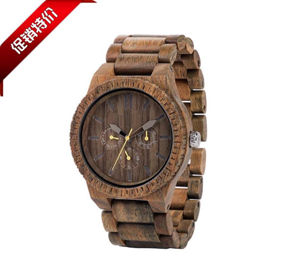 厂家直销 新款木质石英表 时尚木表 进口木头情侣手表