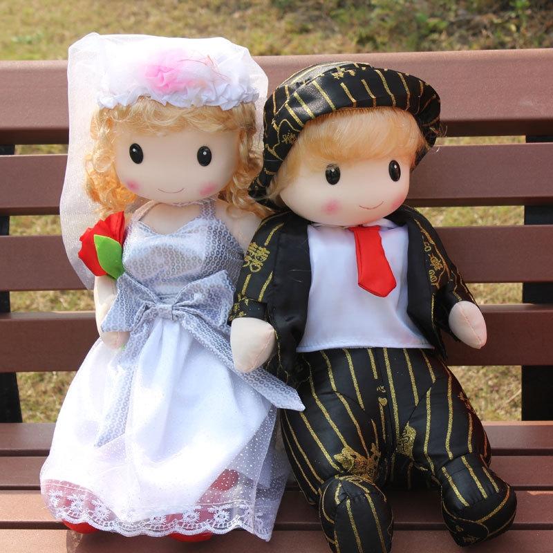 新款布娃娃婚庆压床情侣娃娃婚纱双肩抹胸款
