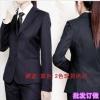 批发女式深蓝/黑色西服套装女士工装正装工作服套装职业装西装