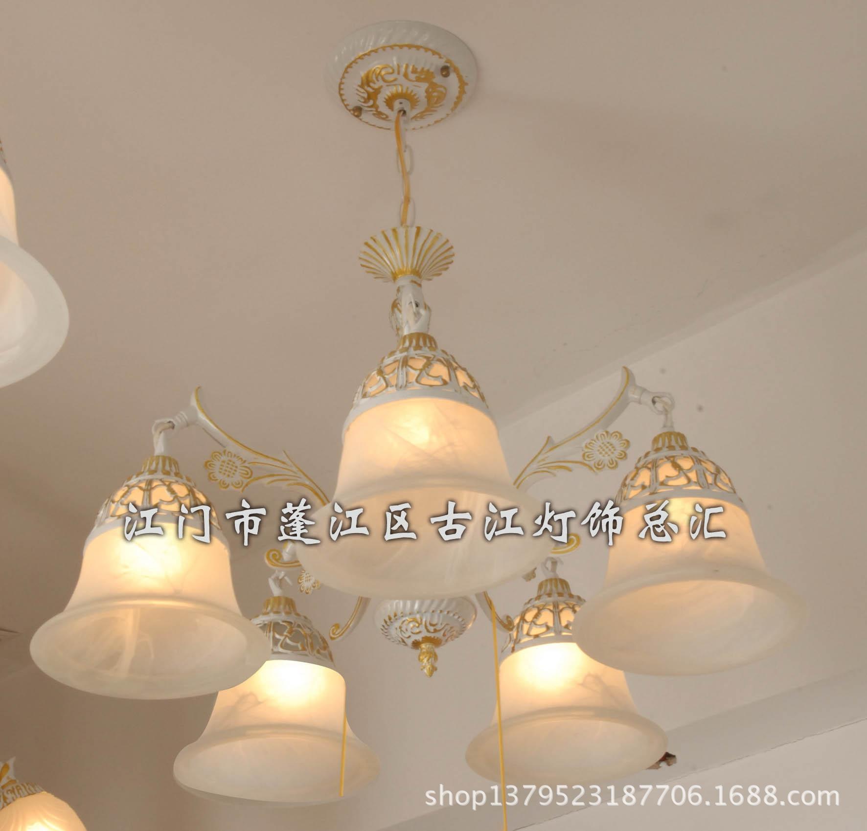 仿古吊灯 田园风格 欧式吊灯 客厅灯饰