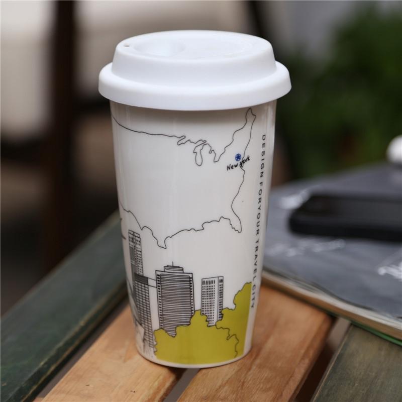 厂家直销 多个城市风景双层杯系列咖啡杯 -杯子