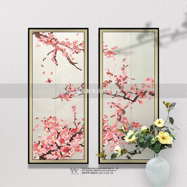 【厂家直供】现代中式水墨画 走廊                   国画类别:镜框